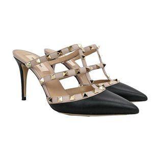 Valentino Black Rockstud Heels US 6.5 / EU 36.5